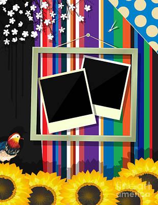 Brunch Digital Art - Scrapbook Frame by Richard Laschon