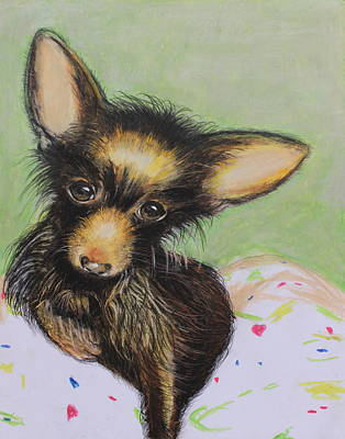 Dog Painting - Scrapper by Jeanne Fischer