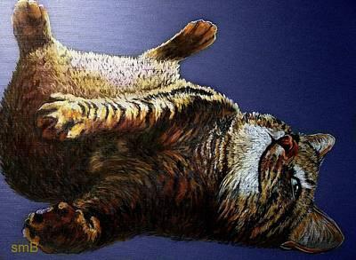 Scratch My Tummy Art Print by Susan Bergstrom
