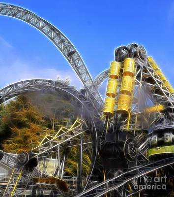 Cyclone Rollercoaster Photograph - Roller Coaster Ride - Scream All You Like by Doc Braham