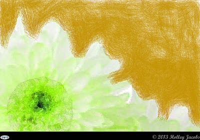 Digital Art - Scream And Shout Green by Holley Jacobs
