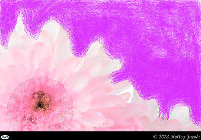Digital Art - Scream And Shout Pink by Holley Jacobs