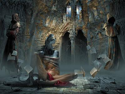 Surrealism Digital Art - Scream by George Grie