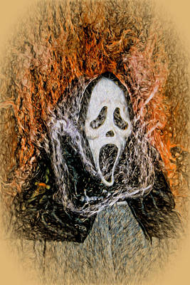 Digital Art - Scream On Fire by Terry Cork