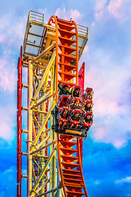Roller Coaster Photograph - Scream Time by Chris Lord