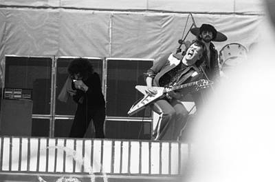 Photograph - Screaming Guitsr Of J. Geils 1976 by Ben Upham