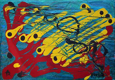 Painting - Screaming Jackrabbits by Donna Blackhall