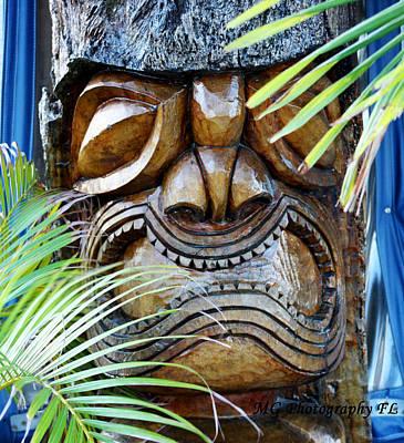 Screaming Tiki  Art Print