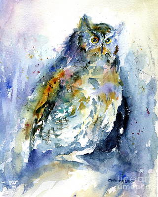 Painting - Screech Owl by Christy Lemp