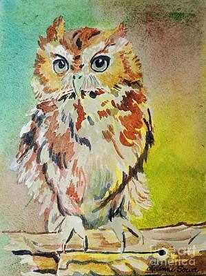 Screech Owl Art Print by LeAnne Sowa