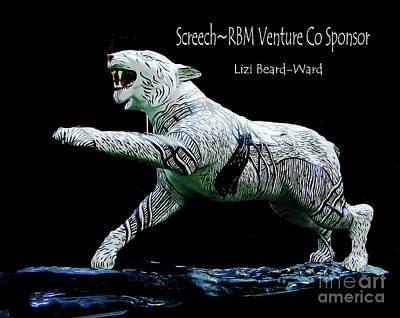 Mixed Media - Screech Tiger by Lizi Beard-Ward