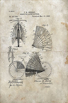 Digital Art - Screen For Ladies Bicycles Patent 1896 by Paulette B Wright