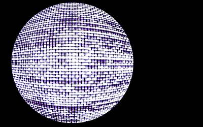 Orb Photograph - Screen Orb-12 by Larry Jost
