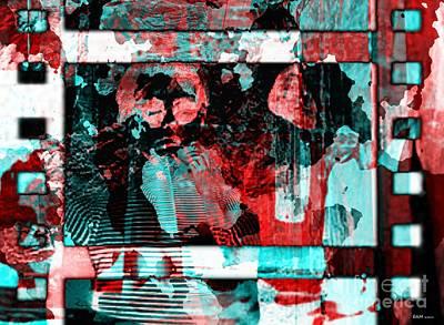 Test Pattern Digital Art - Screen Tests by Elizabeth McTaggart