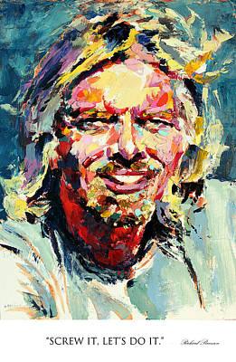 Derek Russell Wall Art - Painting - Screw It Let's Do It Richard Branson by Derek Russell