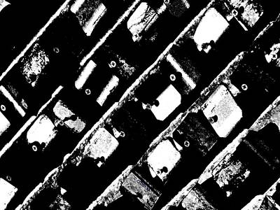 Photograph - Screwed Metal Tab Abstract by Chris Berry