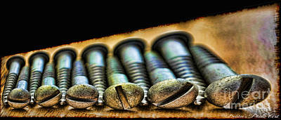 In My Life Photograph - Screws All Lined Up 2 by Debbie Portwood