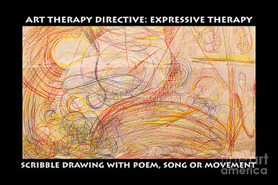 Drawing - Scribble And  Poem Expressive Therapy by Anne Cameron Cutri