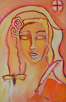 Painting - Scribe by Mary Ann Matthys
