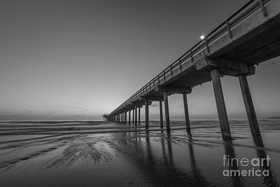 Lajolla Photograph - Scripps Pier Bw by Michael Ver Sprill