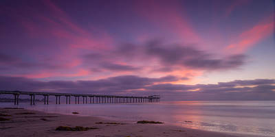 Scripps Pier Colors Art Print by Peter Tellone