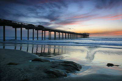Scripps Pier Evening Art Print by Scott Cunningham