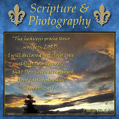 Photograph - Scripture And Photography Gallery by Glenn McCarthy Art and Photography