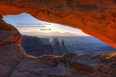 Photograph - Scripture And Picture Malachi 3 10 by Ken Smith