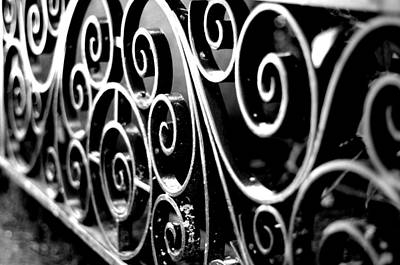 Photograph - Wrought Iron Gate - B/w by Marilyn Wilson