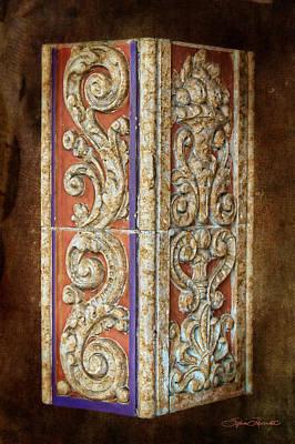 Scrolled Column Art Print by Sylvia Thornton