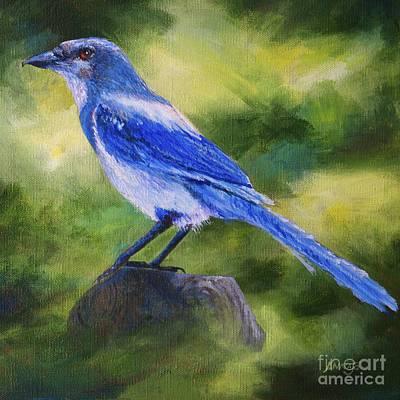 Painting - Scrub Jay by AnnaJo Vahle