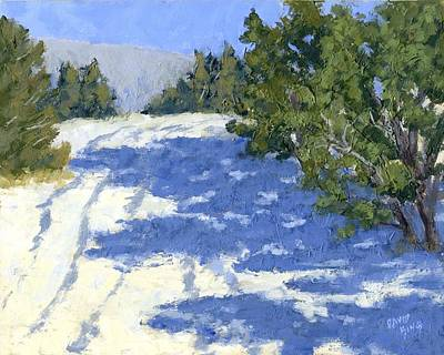 Painting - Scrub Oak Shadows by David King