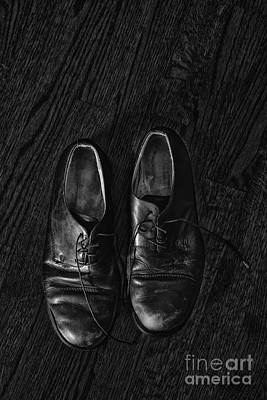 Mens Shoe Photograph - Scuffed by Margie Hurwich