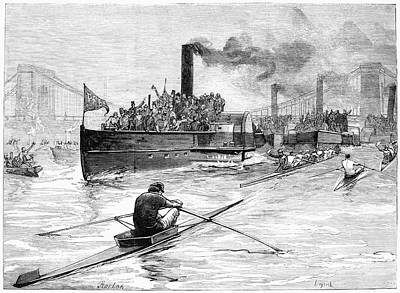 Championship Drawing - Sculling Race, 1881 by Granger