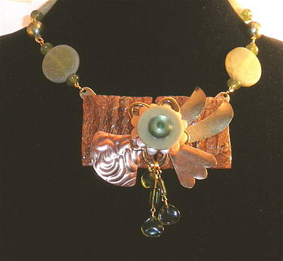 Jewelry - Sculptural Floral Art Necklace by Outre Art  Natalie Eisen