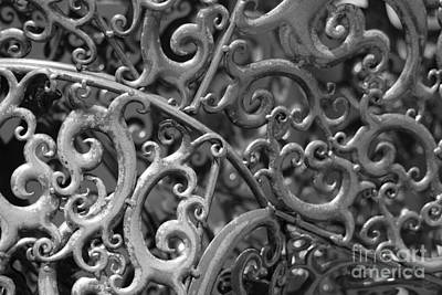 Sculpture Detail Bw  Art Print by Barbara Bardzik