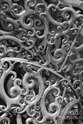 Sculpture Detail Vertical Bw Art Print by Barbara Bardzik