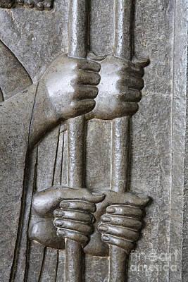 Sculpture From Persepolis In Iran Art Print by Robert Preston