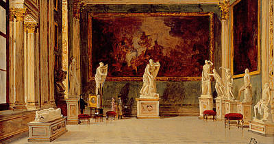 Exhibits Painting - Sculpture Gallery At The Pitti Palace In Florence by Antonietta Brandeis