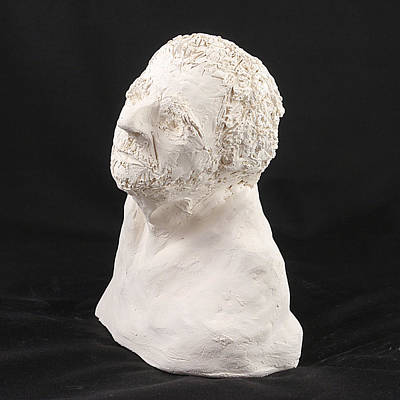 Photograph - Sculpture - Head 1 by Richard Reeve