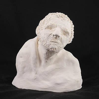Photograph - Sculpture - Head 2 by Richard Reeve