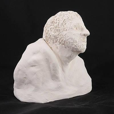 Photograph - Sculpture - Head 3 by Richard Reeve