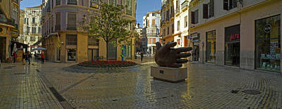 Malaga Province Photograph - Sculpture In Old Town, Malaga, Malaga by Panoramic Images