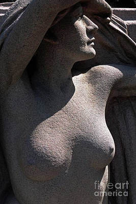 Photograph - Sculpture Of Angelic Female Body by Charline Xia