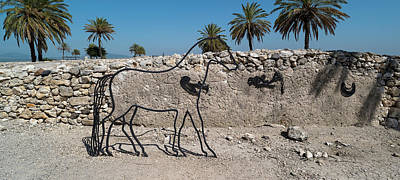 Sculpture Of Horse At Tel Megiddo Art Print
