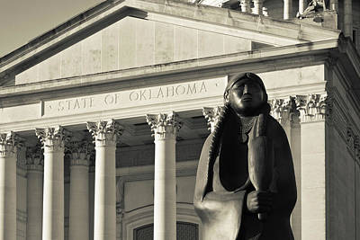 State Capitol Photograph - Sculpture Of Native American by Panoramic Images