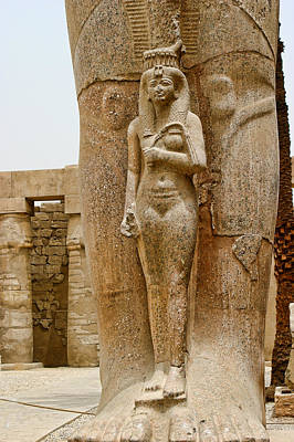 Sculpture Of Pharaohs Wife Art Print by Linda Phelps