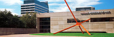 Sculpture Outside A Museum, Dallas Art Print by Panoramic Images