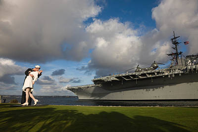 Uss Midway Photograph - Sculpture Unconditional Surrender by Panoramic Images