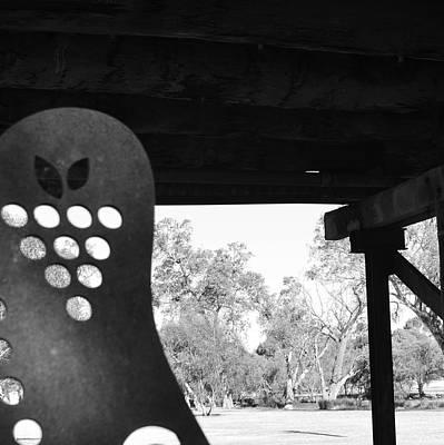 Photograph - Sculpture Under Bridge by Cheryl Miller